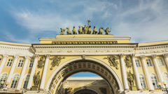 ZOOM: Arches of the General Staff, St. Petersburg, Russia Stock Footage