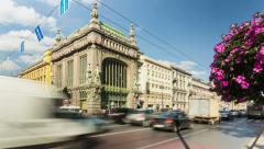 Eliseev Kupetz Food Hall, St. Petersburg, Russia (timelapse) Stock Footage