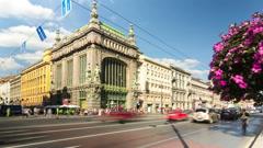 Eliseev Kupetz Food Hall, St. Petersburg, Russia (timelapse) - stock footage