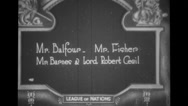 Mr. Balfour, Mr. Fisher, Mr. Barnes and Lord Robert Cecil leaving the Assembly Stock Footage