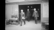 Military officer leaving from power station Stock Footage