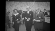 Mr. John Folger, Gen Howard Cullman and Mr. Struyf attending the inauguration Stock Footage
