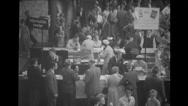 Visitors attending  Brussels World's Fair, Belgium Stock Footage