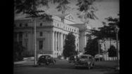 Philippine congress building in Manila Stock Footage