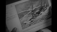 Book with Admiral George Dewey's records Stock Footage