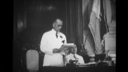 Manuel Luis Quezon addressing at Philippine Congress Building Stock Footage