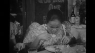 Women dining inside the house Stock Footage