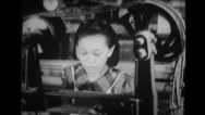 Woman working in a textile factory Stock Footage