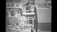 View of PM-1 plant and  radar building Stock Footage