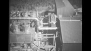 View of PM-1 plant to silo-like radar building Stock Footage
