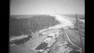 View of first Air Force nuclear power plant, PM-1 Stock Footage