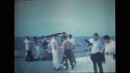 Photographers with equipment on the deck of USS Wasp Stock Footage