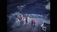 Sailors on cargo deck of USS wasp Stock Footage