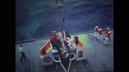 Astronauts being rescued from the spacecraft Stock Footage