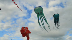 Colorful Kite Festival, kites footage Stock Footage