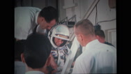Technicians assisting astronaut Stock Footage