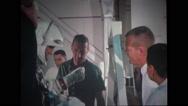 Technicians assisting astronaut Stock Footage