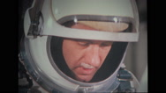 Astronaut looking from helmet Stock Footage