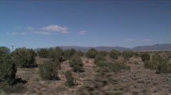 Driving shot of Great Basin Nevada Stock Footage