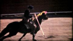 1082 - a horseman (picadores) prepares the bull - vintage film home movie Stock Footage