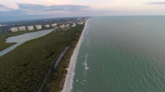 Flying high over the Gulf Coast, 2K aerial view of Naples Stock Footage