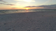 Sunset over Naples, Florida. 2.7K SUNSET Footage from the air Stock Footage