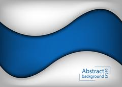 3d abstract curve overlap on blue background Stock Illustration