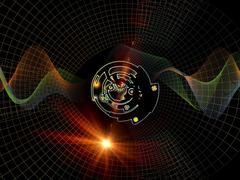 Spirit of Digital Processing - stock illustration