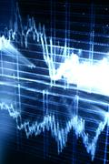 techno graph - stock photo