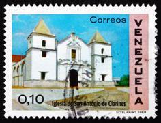Postage stamp Venezuela 1970 Church of St. Anthony, Clarines - stock photo