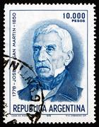 Postage stamp Argentina 1978 Jose de San Martin, General - stock photo