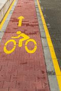 Marked bicycle path Stock Photos