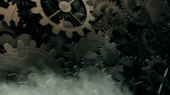 Cogwheels Gear Seamless Background Loop Stock Footage