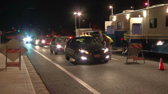 CHP DUI Sobriety License Checkpoint Stock Footage