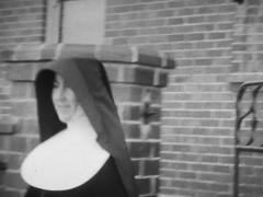 B&W Archival footage nuns in the 30's - stock footage