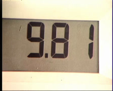 Petrol Bowser Meter Counting Upwards 1982 Stock Footage