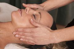 Stock Photo of Recovery from a head massage