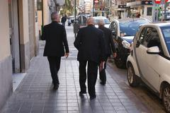 Images of Valencia - Gang of Priests Walking Stock Photos