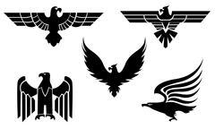Eagle tattoos Stock Illustration