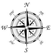 Compass symbol Stock Illustration