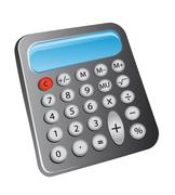Electronic calculator Stock Illustration
