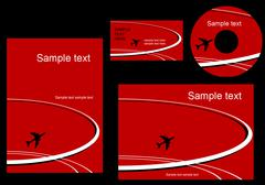 elements of aviation corporate style - stock illustration
