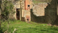abandoned stone house building 02 - stock footage