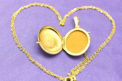 Gold medallion - stock photo