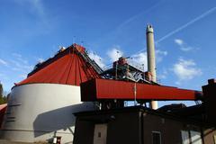 Stock Photo of bio fuel power plant