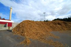bio mass power plant - stock photo