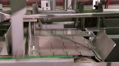 Linkage to the assembly line Stock Footage