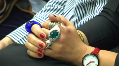 Jewelry On Hand 2 Stock Footage