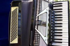 Accordion - a musical instrument Stock Photos