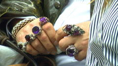Jewelry On Hand 1 Stock Footage